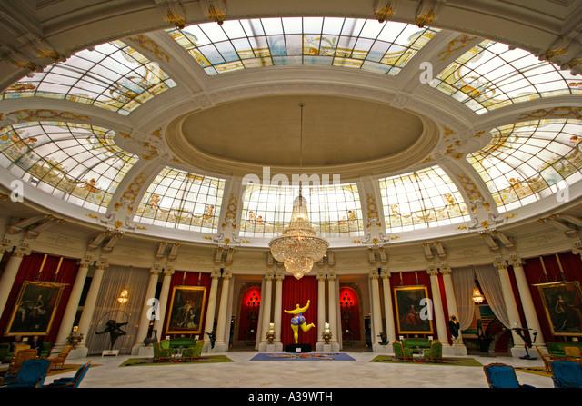 France Nice Promenade des Anglais Hotel Negresco interieur luxery Salon - Stock Image