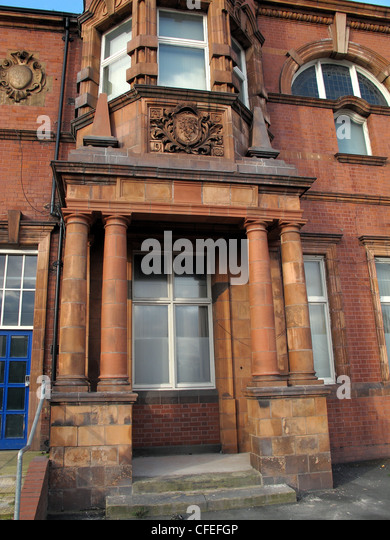 Warrington Police Headquarters Building in red stonework, Cheshire Constabulary Force - Stock Image