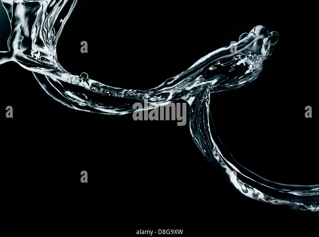Water in motion. high speed capture. - Stock Image