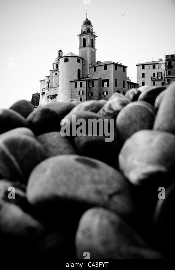 Camogli church, Liguria Italy - Stock Image
