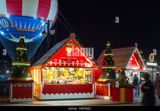 Disney Village at Christmas - Stock Image