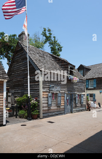 Oldest wood school house in the USA in historic St. Augustine, Florida - Stock-Bilder
