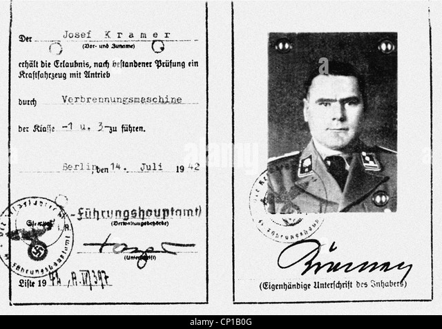 Kramer, Josef, 10.11.1906 - 13.12.1945, German ss officer, Commandant of the Bergen-Belsen concentration camp 1944 - Stock-Bilder