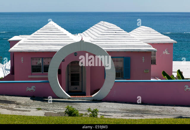 Wighton United Kingdom  City new picture : Close up shot of a Bermudan house near St David's Lighthouse, St ...