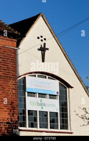 The chichester family church which is also doubles as a  foodbank centre which supplies food to local people in - Stock Image