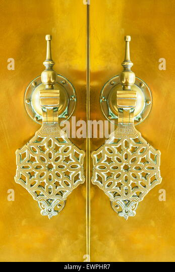 Ornamental knocker, Morocco, Africa - Stock Image