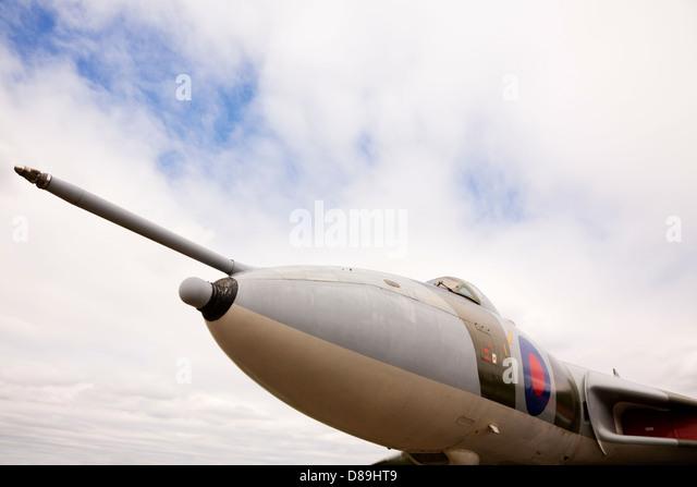 RAF Avro Vulcan B2, XM594 at Newark Air Museum. - Stock Image