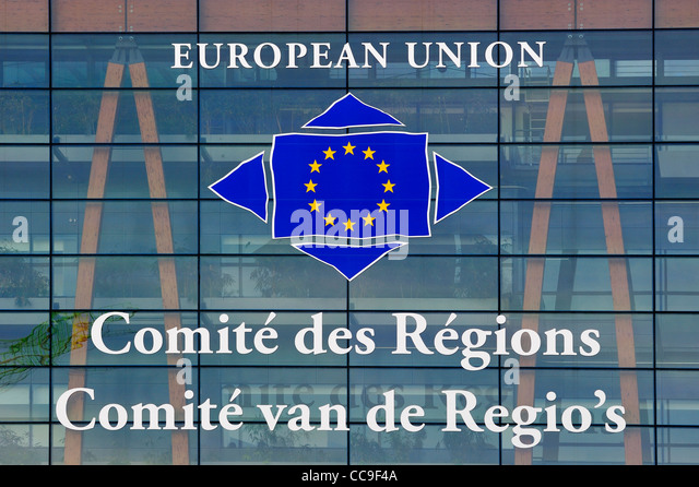 Office building of the Committee of the Regions of the European Union in Brussels, Belgium - Stock Image