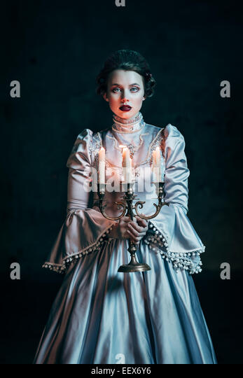Woman in victorian dress - Stock Image
