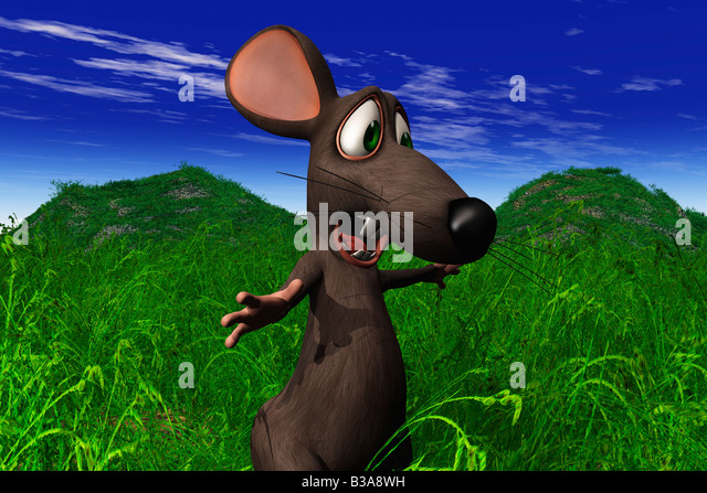 Cartoon mouse shocked shock stock photos cartoon mouse for Field mouse cartoon