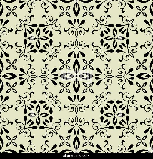 art vector seamless vintage pattern background - Stock Image