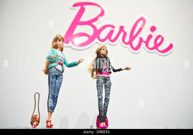 Nuremberg, Germany. 28th Jan, 2014. The new Deluxe Fashionista Barbie is pictured during the novelties show at the - Stock Image