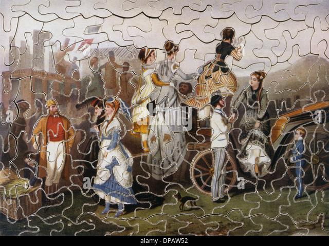 VICTORIAN JIGSAW/1870 - Stock Image