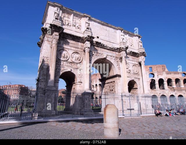 Roma Arco di Costantino Italy by  andrea quercioli - Stock Image
