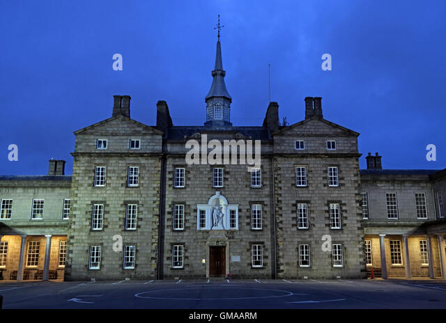 Robert Gordons College ( Auld Hoose ),dusk in Aberdeen city centre,Scotland,UK - Stock Image