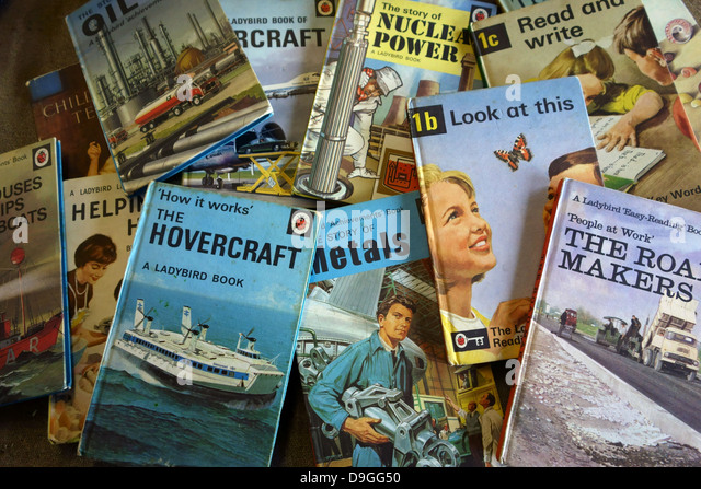 Ladybird children's books of the 1950s and 1960s, England - Stock Image