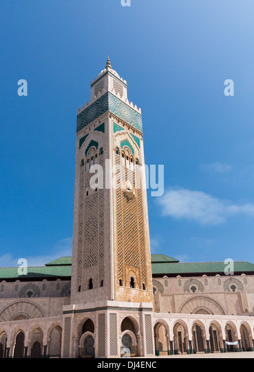 The Hassan II Mosque or Grande Mosquee Hassan II in Casablanca, Morocco. - Stock Image