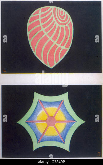 37 - SYMPATHY AND LOVE FOR ALL  39 - AS ABOVE, BUT INFLUENCED  BY ORIENTAL THOUGHT       Date: 1905 - Stock Image