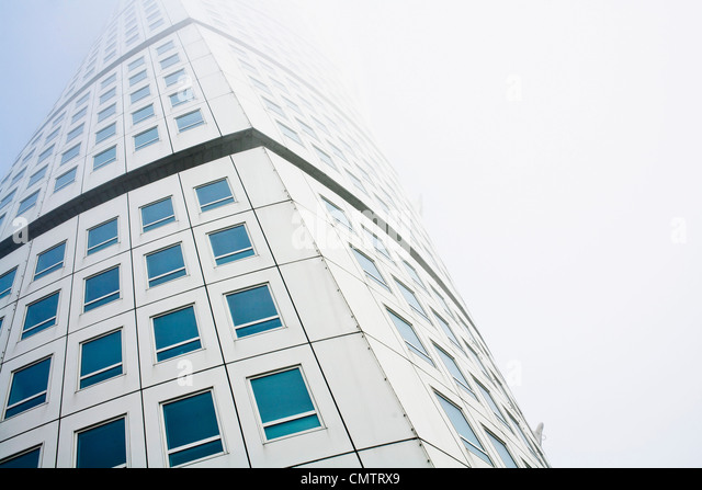 Low angle view of turning torso building - Stock Image