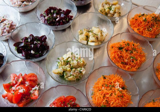 Variety of vegetable salads - Stock-Bilder