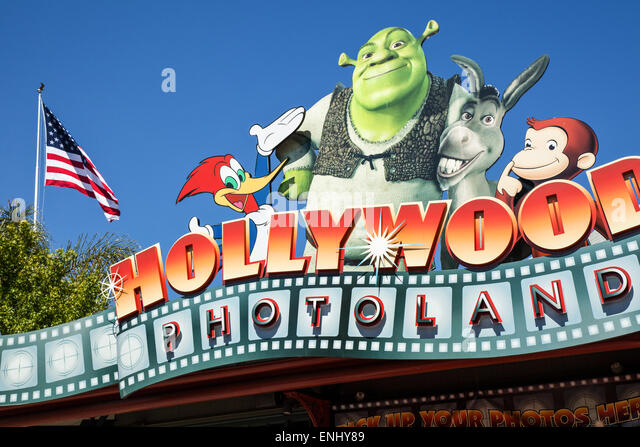 U.S.A., California, Los Angeles, Hollywood, the Universal Studios entertainment centers - Stock Image