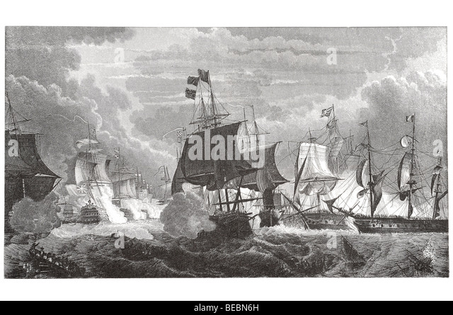 naval battle - Stock Image