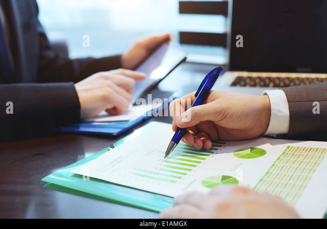 Business people at the office - Stock Image