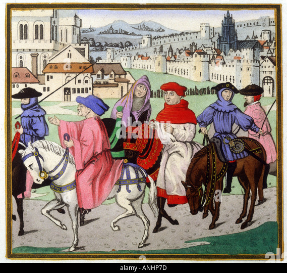 Canterbury Pilgrims - Stock Image