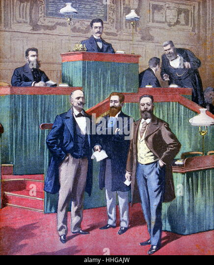 Meeting of the Paris City Council 1900 - Stock Image
