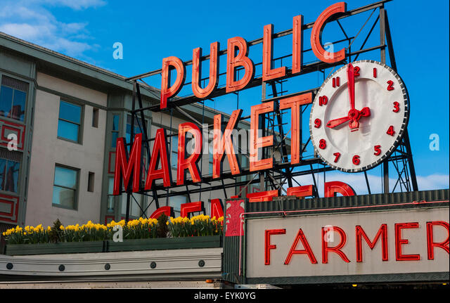 Fish public market stock photos fish public market stock for Famous fish market in seattle