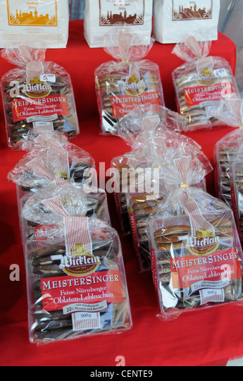 packets of ginger bread biscuits on sale at a market stall in nuremberg cente9 Ginger And White Coffee Three Biscuits Stock Photo Image