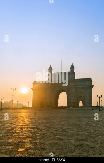 The Gateway of India at dawn, Mumbai, Maharashtra, India, Asia - Stock Image