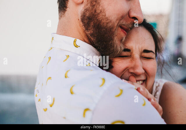 beautiful couple in the city - Stock Image