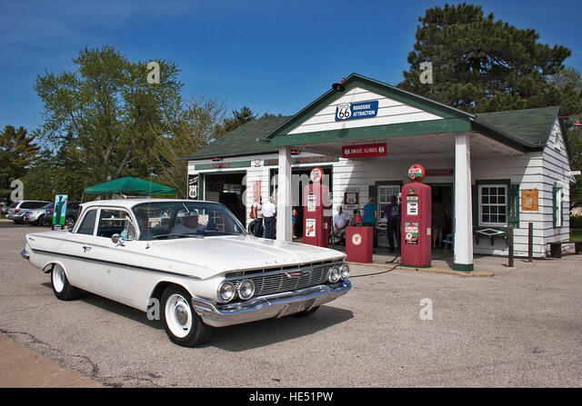 Nostalgic Route 66 Texaco - Stock Image