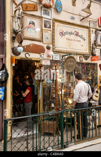 San Telmo Antiques Fair and market, Buenos Aires, Argentina - Stock Image