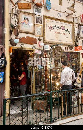 San Telmo Antiques Fair and market, Buenos Aires, Argentina - Stock Image