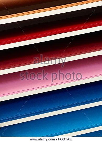 Full Frame Shot Of Colorful Shelf - Stock-Bilder