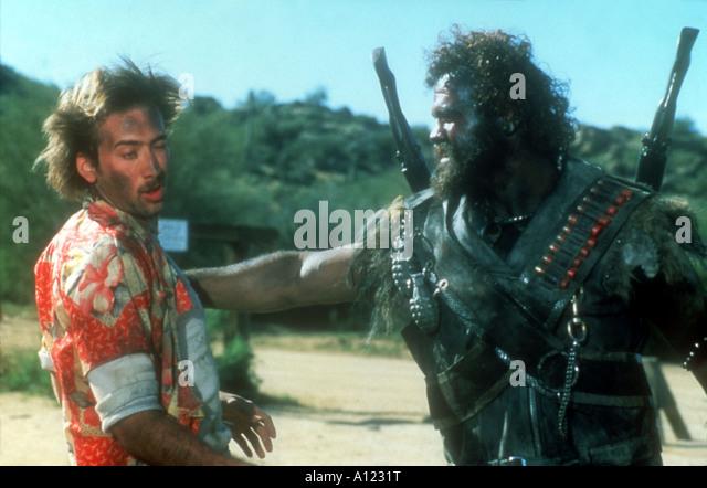 Raising Arizona Year 1986 Director Joel Coen Nicolas Cage Randall Tex Cobb - Stock Image