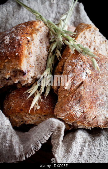 Homemade bread with oat - Stock Image