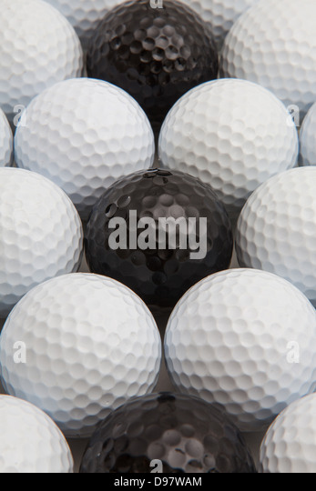 Different golf balls - Stock Image