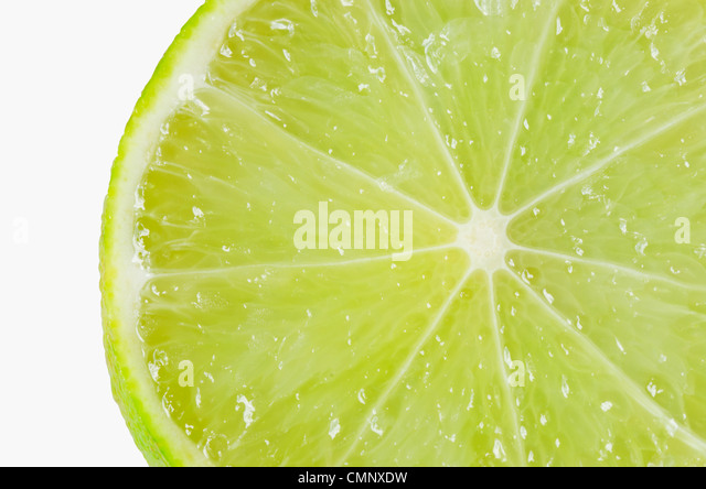 close up lemon isolated - Stock Image
