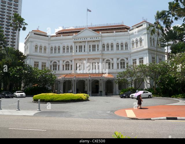 Raffles Hotel, Singapore, Asia - Stock Image