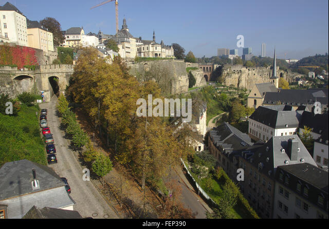Luxembourg city autumn stock photos luxembourg city for Caa luxembourg