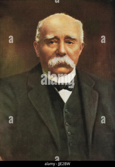 French prime Minister Georges Clemenceau, Prime Minister of France during First World War - Stock Image