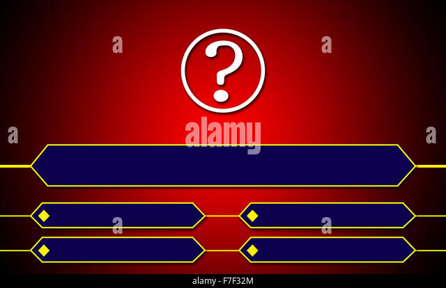 Design for Question and Answer Options - Stock Image