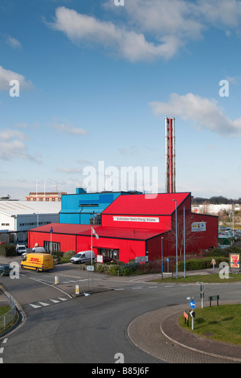 Thermal energy exchange unit in the centre of Southampton - Stock Image