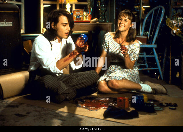 Apr 16, 1993; Spokane, WA, USA; JOHNNY DEPP as Sam and MARY STUART MASTERSON as Juniper 'Joon' Pearl in - Stock Image