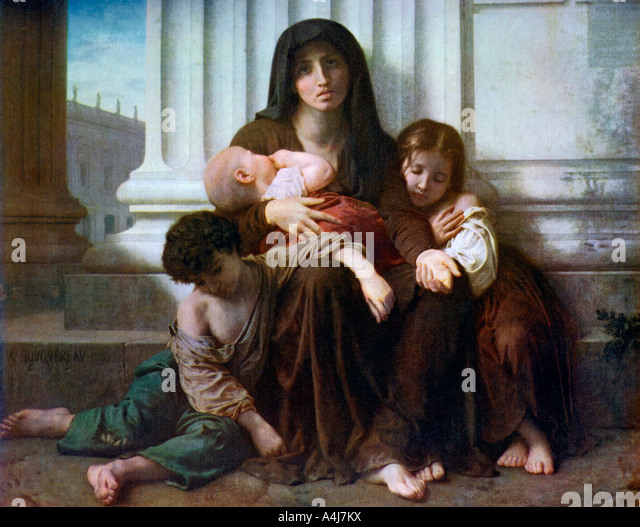 Charity or The Indigent Family 1865 1912  - Stock-Bilder