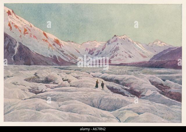 Tasman Glacier - Stock-Bilder