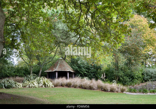 The Victorian Summerhouse at Trelissick Garden, Cornwall. - Stock Image